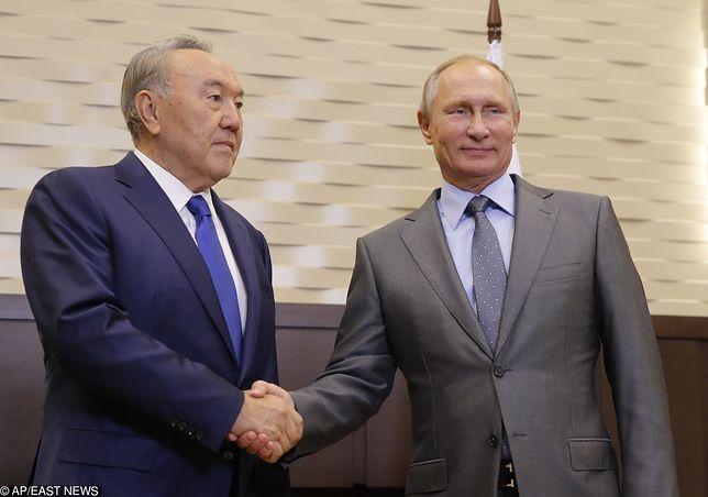 Nursułtan Nazarbajew i Władimir Putin