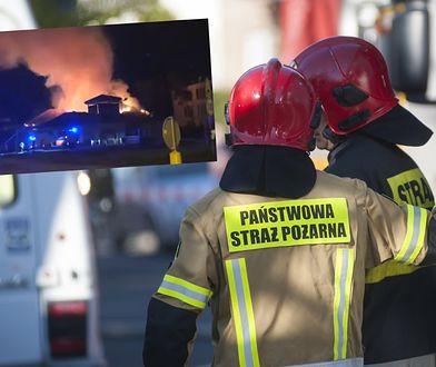 Ogromny pożar w Warszawie. Supermarket w ogniu