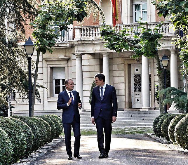 Donald Tusk spotkał się z nowym premierem Hiszpanii. Zdjęcia z wizyty zamieścił na Instagramie