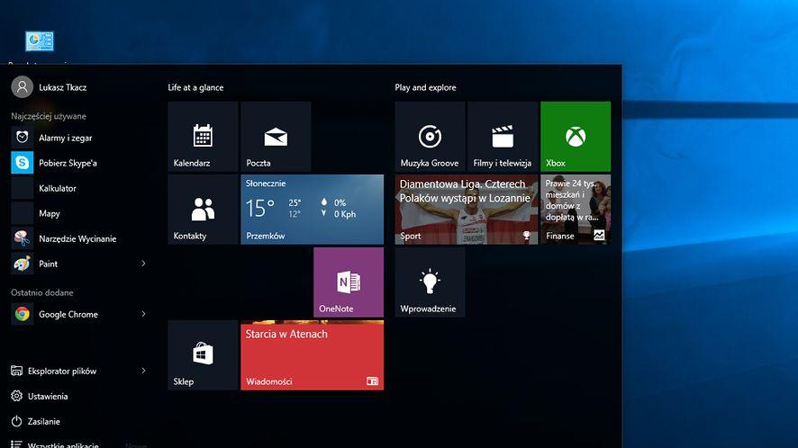 Windows 10 wraca na desktop: menu Start, wirtualne pulpity i Continuum