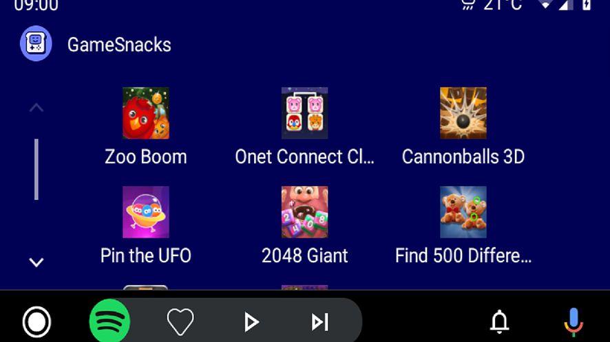 Android Auto oferuje proste gry