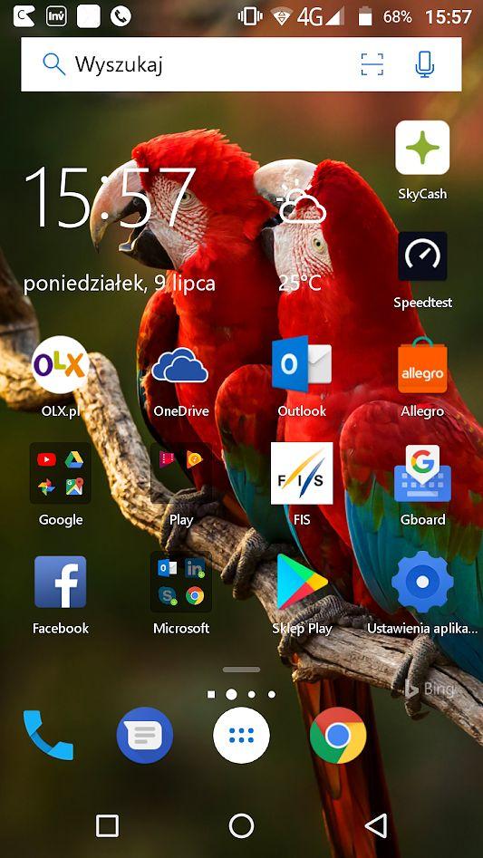 Główny ekran Microsoft Launcher