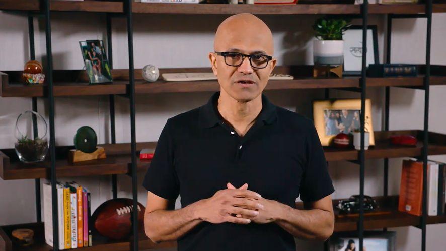 Microsoft ma plan, jak wyjść z kryzysu, zrzut ekranu z konferencji (YouTube/Microsoft)