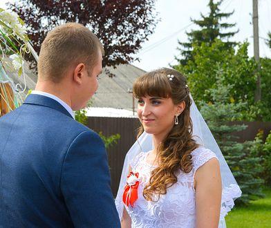 Ukraińska panna młoda podczas wesela