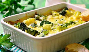 Zapiekanka makaronowa z brokułami. Na obiad lub kolację