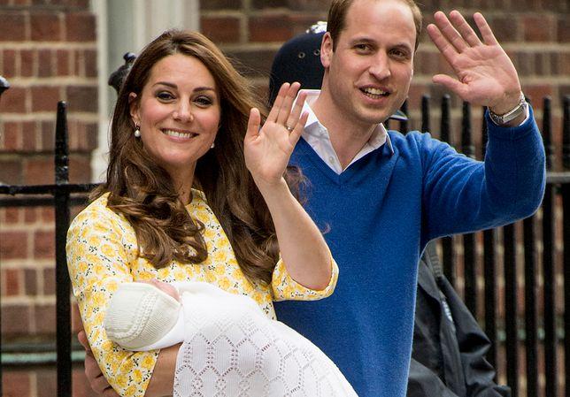Księżna Kate z mężem niedługo po urodzeniu Charlotte