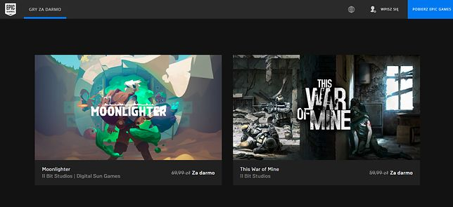 Darmowe gry w Epic Games Store