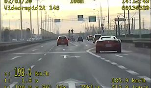 Warszawa. Kierowca ferrari pędził 200 km/h mostem Północnym
