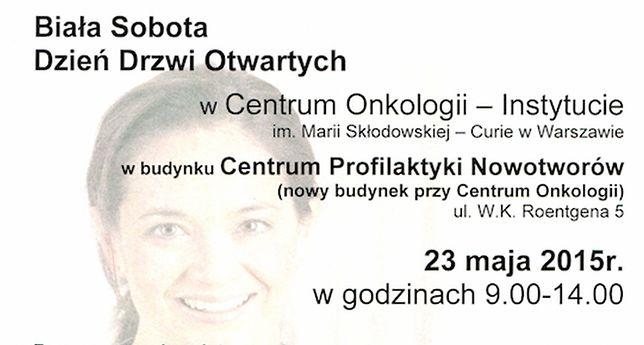 Biała Sobota w Centrum Onkologii. Bezpłatne badania!