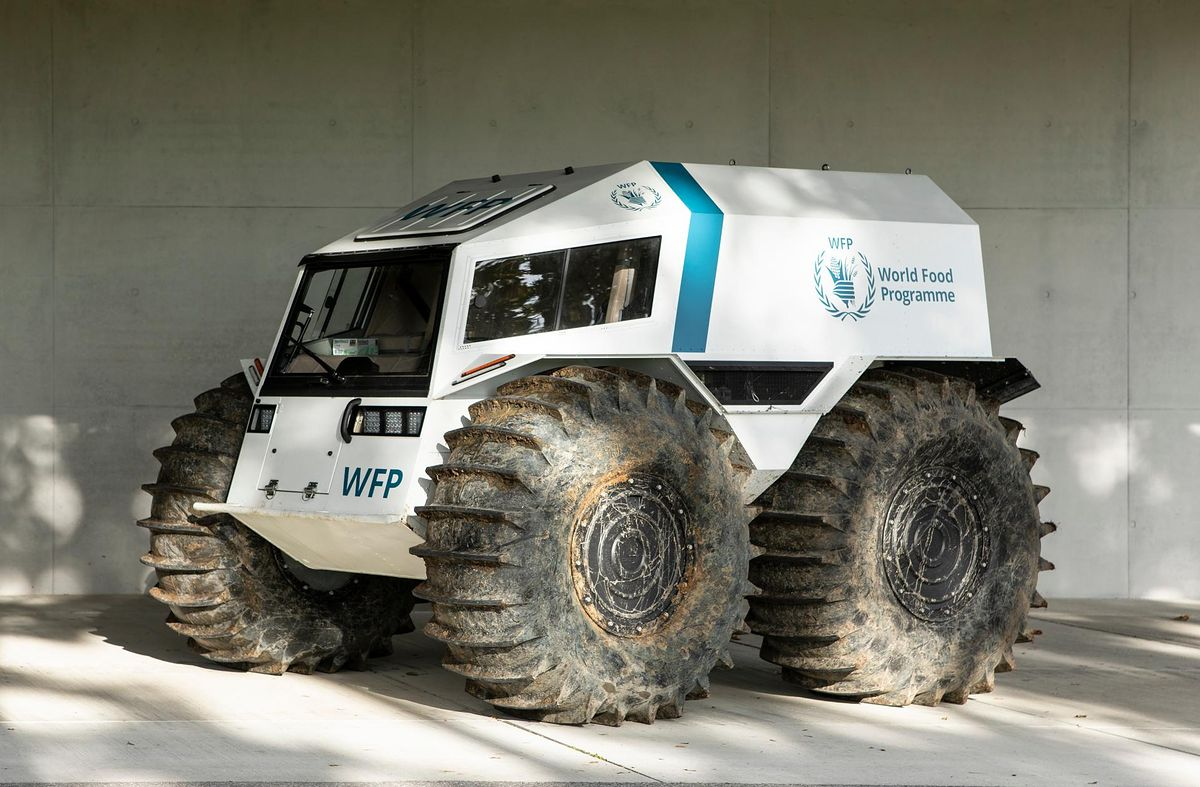 Zdalnie sterowany pojazd do dostarczania pomocy na bazie ukraińskiego SHERP