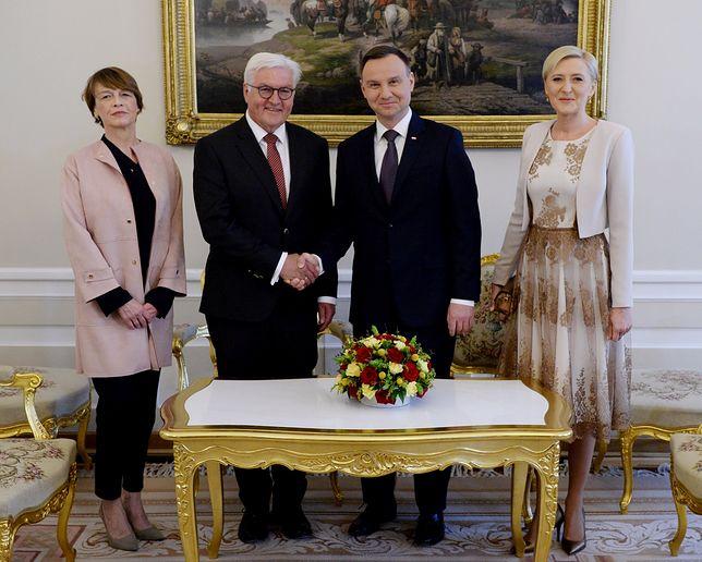 Pierwsza oficjalna wizyta Steinmeiera z małżonką w Polsce