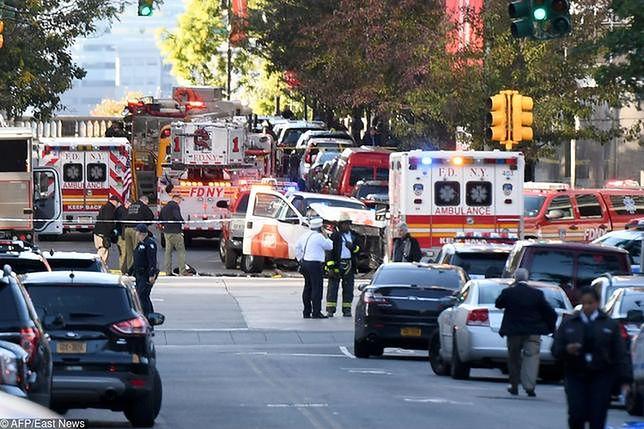 Miejsce ataku w Nowym Jorku