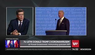 """Donald Trump zakażony koronawirusem. Dr Paweł Grzesiowski: """"Przez wiele miesięcy sobie drwił"""""""