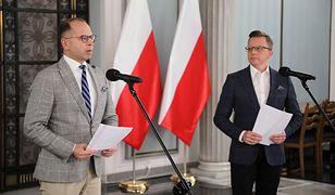 Łukasz Szumowski i wątpliwości opozycji. Na zdjęciu Michał Szczerba i Dariusz Joński