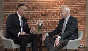 """""""Racja Stanu"""": Andrzej Olechowski w ogniu pytań Michała Kobosko. Zobacz cały odcinek!"""
