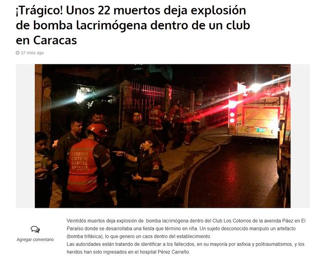 W klubie Los Cotorros doszło do tragedii