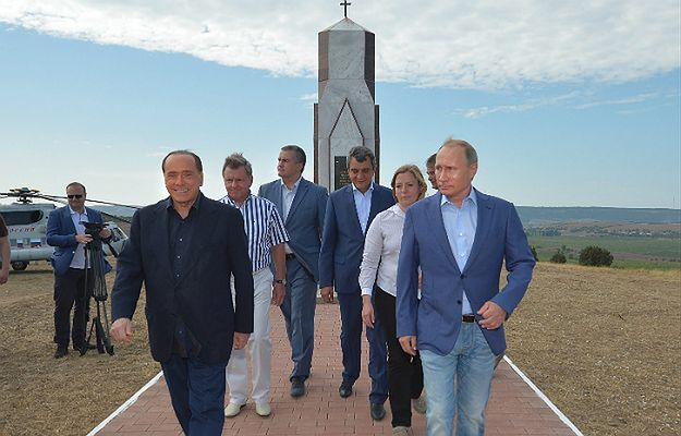 Kolejne spotkanie dwóch przyjaciół. Putin i Berlusconi odwiedzili Krym