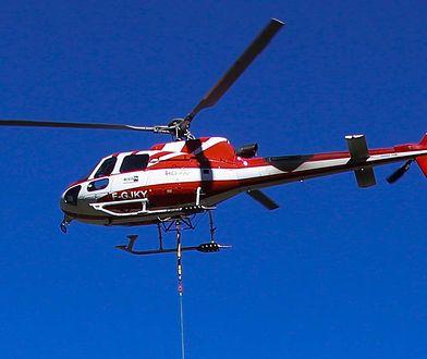 Francja. Wypadek helikoptera w Alpach, przeżyła jedna osoba