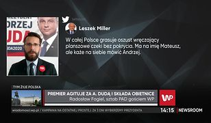 Leszek Miller uderzył w Mateusza Morawieckiego. Wicerzecznik PiS odpowiada: sam sobie wystawia świadectwo