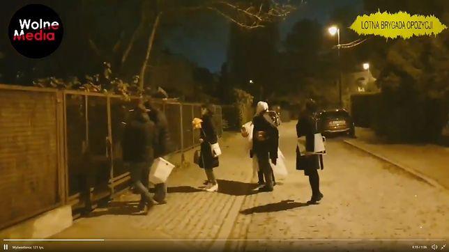 Za akcją pod domem Jarosława Kaczyńskiego stoi Lotna Brygada Opozycji