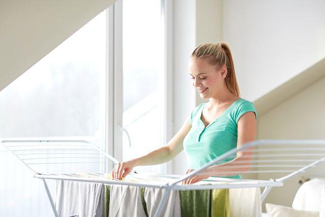 Małe mieszkanie - gdzie suszyć pranie?