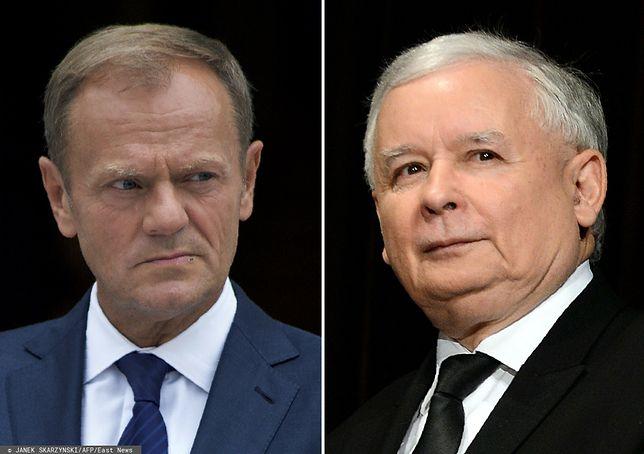 Donald Tusk i Jarosław Kaczyński zdominowali tydzień