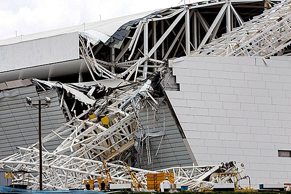 Katastrofa budowlana na stadionie Arena Corinthians w Sao Paulo