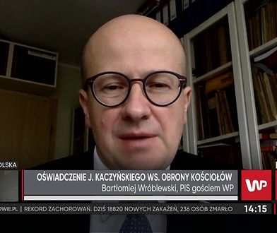 Jarosław Kaczyński wezwał do obrony kościołów. Bartłomiej Wróblewski: jak trzeba, to pójdę
