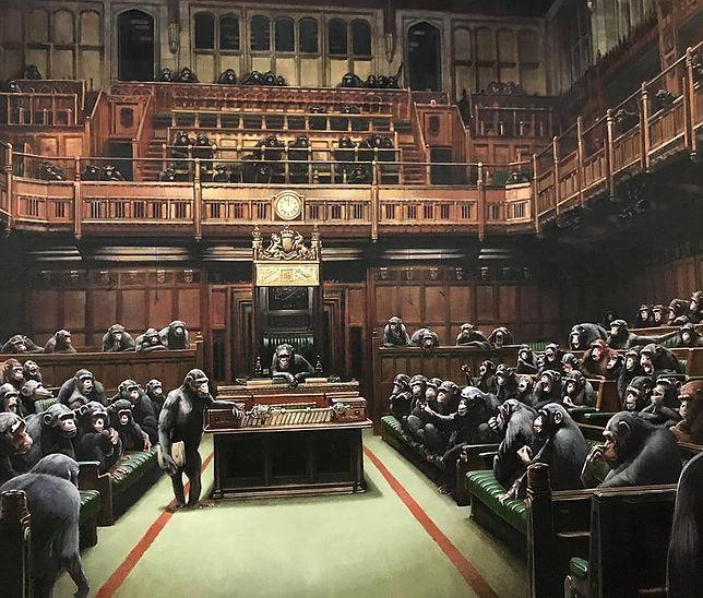 Kontrowersyjny obraz Banksy'ego na licytacji. Może osiagnąć ogromną cenę