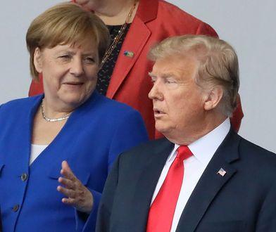 Kanclerz Niemiec Angela Merkel i prezydent USA Donald Trump