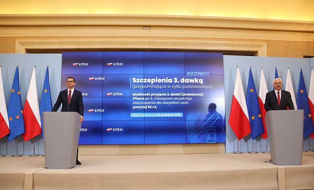 Mateusz Morawiecki podczas konferencji prasowej