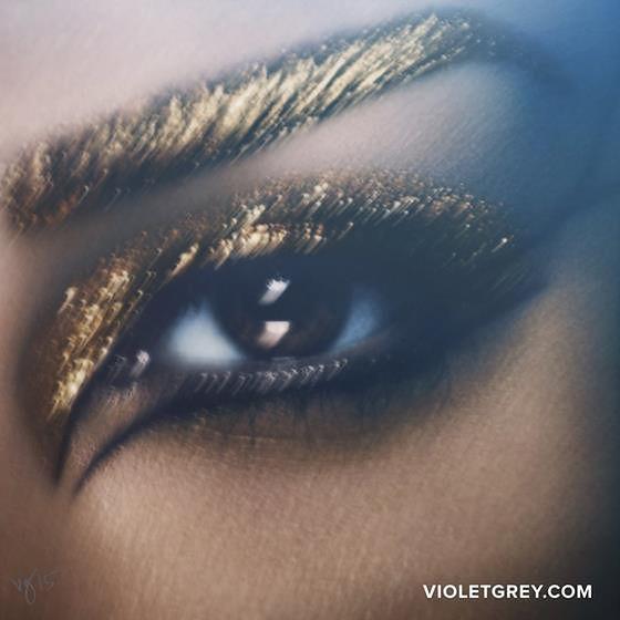 Kim Kardashian jako Kleopatra. Egipskie makijaże Pat McGrath