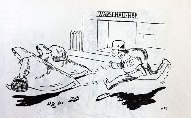 Rysunki i dowcipy z okresu okupacji