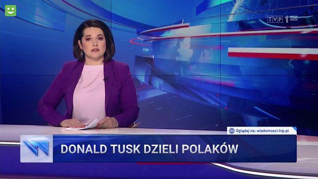 """""""Wiadomości"""" TVP nie mają wątpliwości, kto od 11 lat dzieli Polaków"""