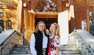 Agnieszka Woźniak-Starak z mężem Piotrem