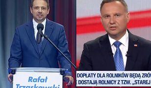 Debaty prezydenckie. Andrzej Duda i Rafał Trzaskowski czytali z promptera?