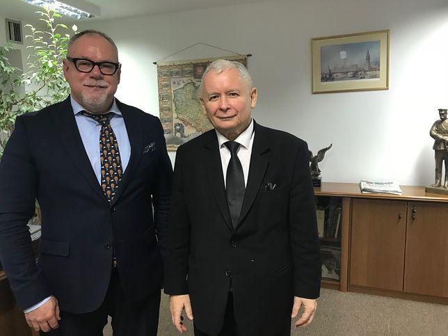 Przewodniczący ZGWŻ w Polsce Lesław Piszewski na spotkaniu z Jarosławem Kaczyńskim
