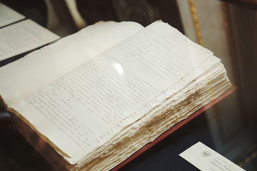 Kopia Konstytucji w Pałacu na Wyspie. 225 rocznica uchwalenia aktu