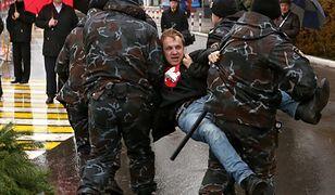 Opozycjonista zatrzymany za akcję przeciw pomnikowi Lenina