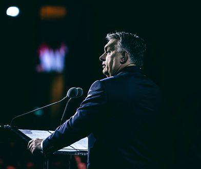 Premier Obran wygłasza orędzie w Budapeszcie