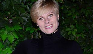 Anna Głogowska na pokazie Marty Banaszek. Wróciła na salony po długiej przerwie