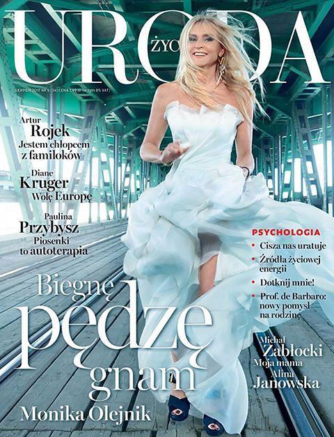 Monika Olejnik w sukni ślubnej na okładce magazynu!