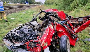 Wypadek na przejeździe kolejowym w Motylewie
