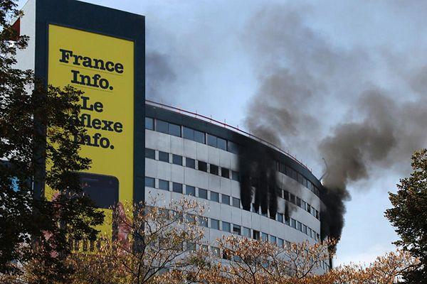 Płonie budynek publicznego radia w Paryżu! Ewakuacja