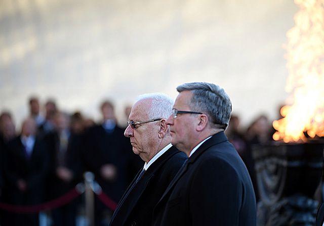 Prezydenci Polski i Izraela otworzyli wystawę - zdjęcia