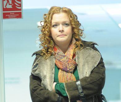 """Daria Widawska na planie serialu """"39 i pół"""" w 2008 roku"""