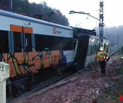 Ruch na linii kolejowej w pobliżu Barcelony został wstrzymany