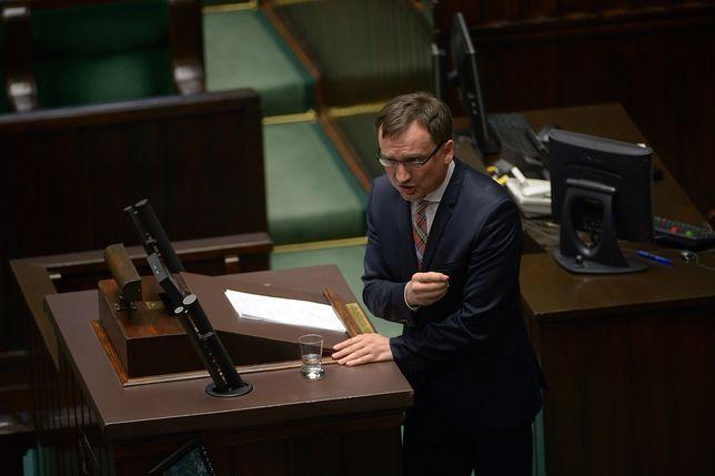 Zbigniew Ziobro uzasadnia projekt ustawy o Sądzie Najwyższym.