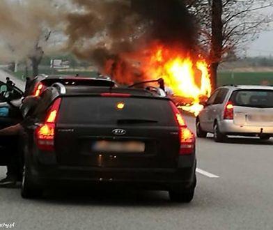 Tragedia w Orzeszu. Samochód się spalił. 29-latka zginęła