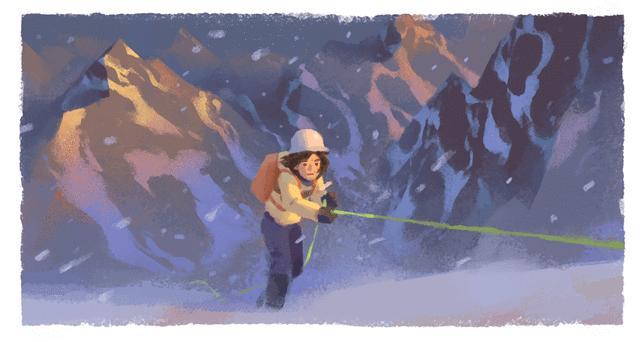 Wanda Rutkiewicz 41 lat temu zdobyła szczyt Mount Everest. Google Doodle upamiętnia osiągnięcie alpinistki
